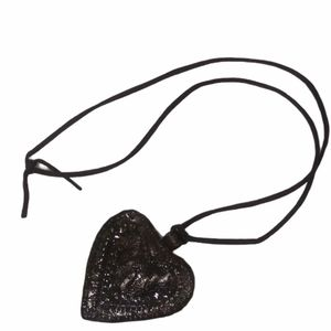 """Steel Heart Shaped Necklace 24""""Aprox"""